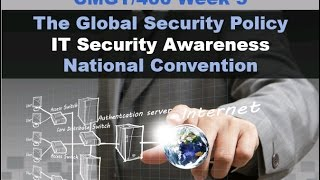 2016 Cmgt/400 Week 5 Individual Presentation - The Global Security Policy and IT Awareness PPT