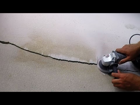 DIY Easy Big Crack Repair In Concrete Floor