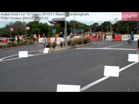 Peter Hosken 8402 Active Feet Fun Tri Series 2010 11 Race 3 Sandringham