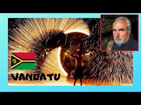 VANUATU, Spectacular FIRE & DANCE SHOW on MELE BEACH (Pacific Ocean)