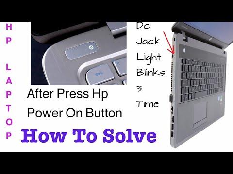 Hp Laptop Dc jack Light blinks 3 times after press power on switch