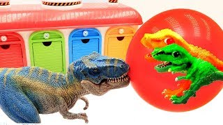 Dinosaur Funny Video - Color Balloon Transformer Dinosaur Eggs!! Dino Toys For Kids