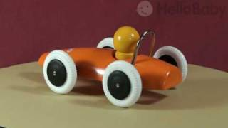 Brio Orange Racing Car Wooden Baby Toy
