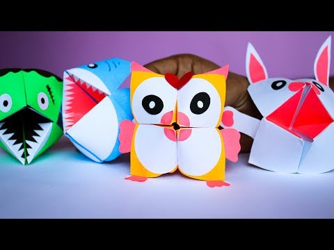 Paper Craft Ideas for Kids- diy paper craft- origami animals- cootie catcher