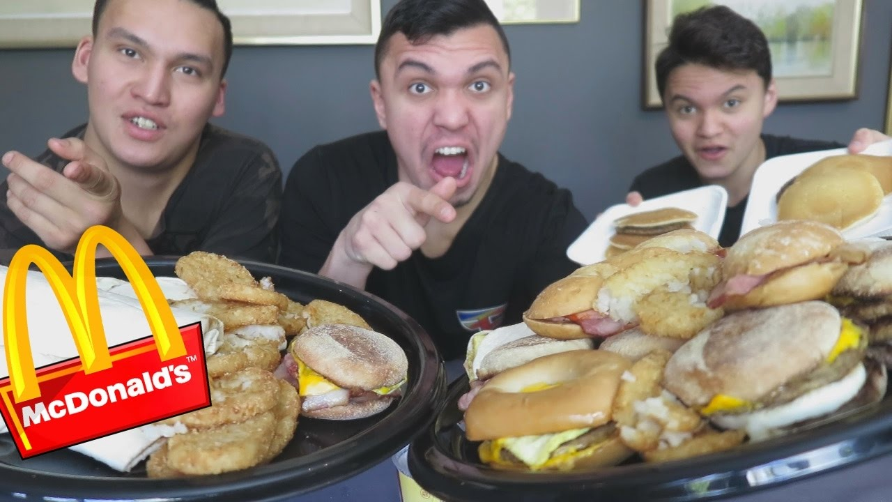 Entire Mcdonalds Breakfast Menu In 10 Min Challenge