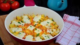 Yumurtalı  Patates  Tarifi ( Çook  pratik  ve  muhteşem bir  kahvaltılık )