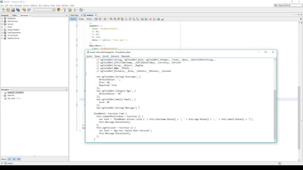 Controls js - JavaScript application framework