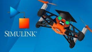 Использование мини-дронов при обучении теории управления (MATLAB + Parrot Rolling Spider)