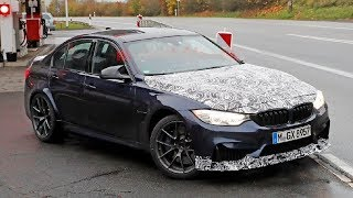 New Look!! BMW M3 CS spied with new tires and carbon fiber bodywork