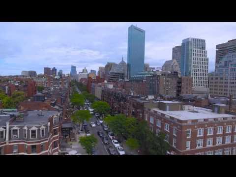 Newbury Street Rd, Boston, Massachusetts - DJI Phantom 4 Fly