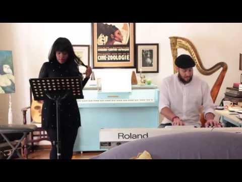 Sofaya and Chris in Rehearsal