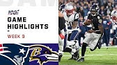 Patriots vs. Ravens Week 9 Highlights   NFL 2019