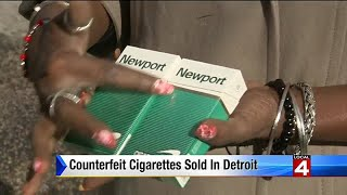 Counterfeit cigarettes sold in Detroit