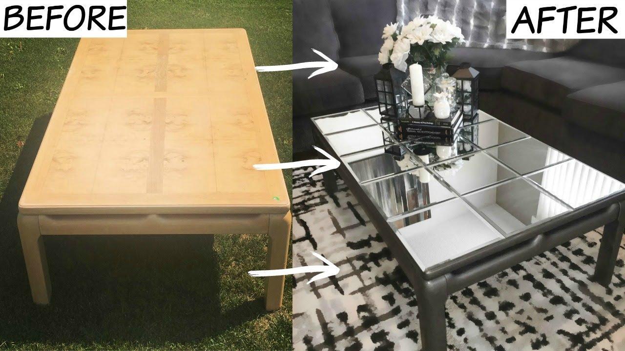 DIY GLAMOROUS MIRROR TABLE (DOLLARAMA) - YouTube