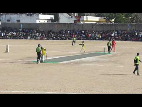 Ipl player kamraan khan playing at makrana tournament