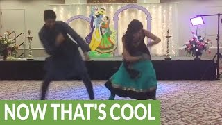 Repeat youtube video Bride and brother pull of epic wedding dance routine