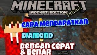 Minecraft PE Indonesia : Cara Mendapatkan Diamond Dengan cepat & Benar