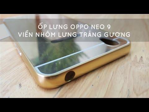 Ốp lưng Oppo Neo 9 viền nhôm lưng tráng gương - Đồ Chơi Di Động .com