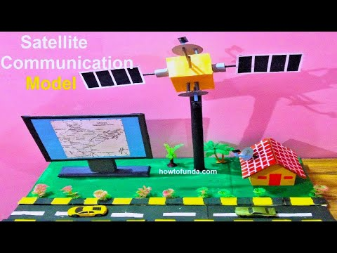 Satellite Communication Model For School Science Exhibition | Diy At Home