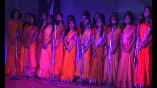 Group Singing Song Girls in Kendriya School Bilaspur Chhattisgarh