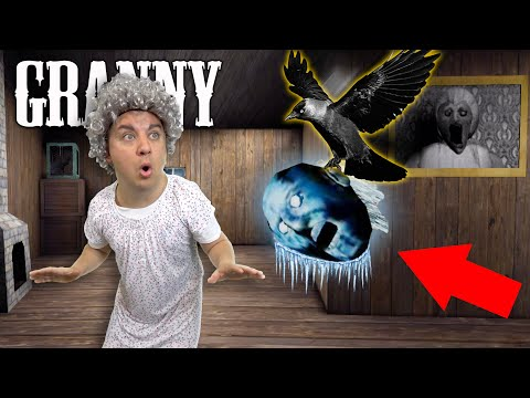 I FROZE GRANNY & GOT ATTACKED BY HER PET CROW! Granny 1.7 Update Gameplay
