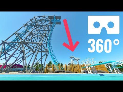 360 VR Box video Roller Coaster Swimming Pool Water Park Google Cardboard Oculus Rift