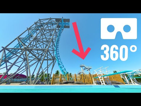 360 VR Box video Roller Coaster Swimming Pool Water Park Google Cardboard Oculus Rift