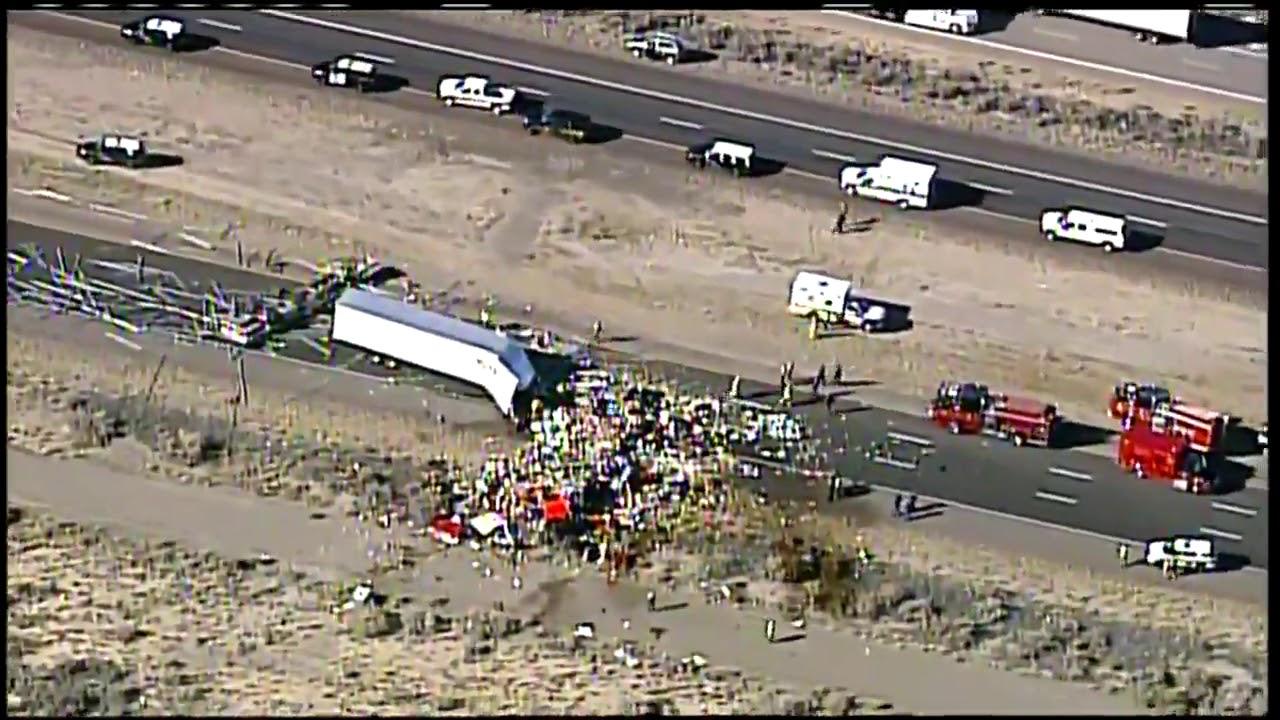 Semi crash closes I-40