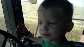 2 year old operating case ih 2588 combine