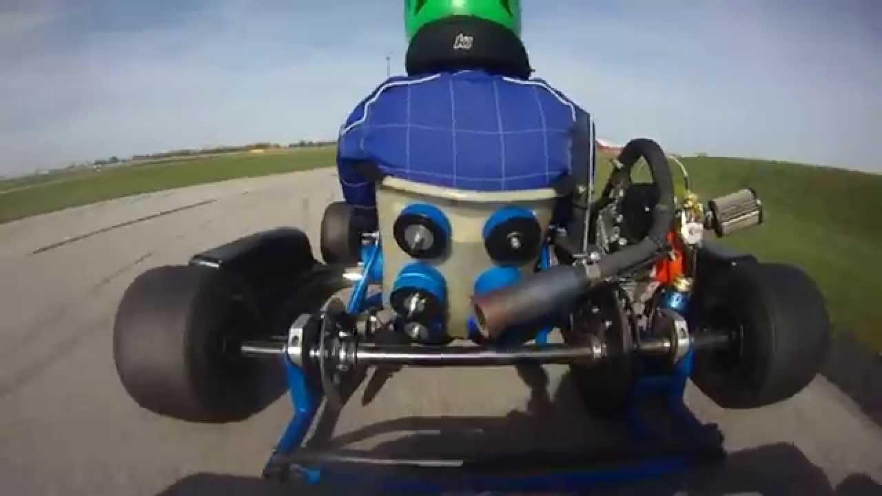 Kart crash on final lap - LO206 CIK race @ NCMP 10 19 14
