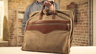 The Garment Bag | Waxed Canvas & Leather Suit Bag