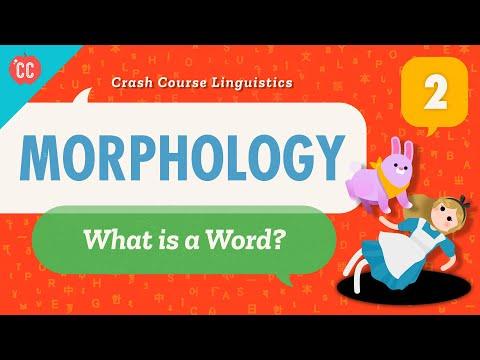 Morphology: Crash Course Linguistics #2What even is a word?...