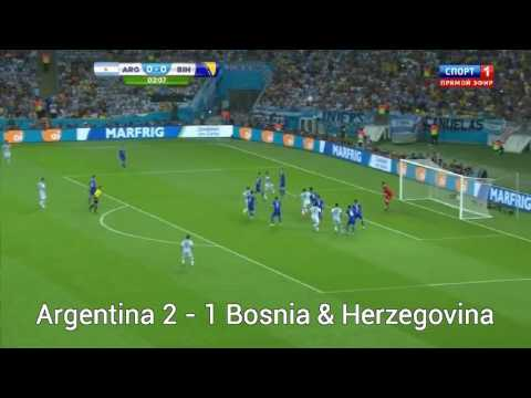 World Cup 2014 All Goals Part 6 - Group F