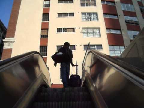 The Escalator of Pershing Square Station, LA