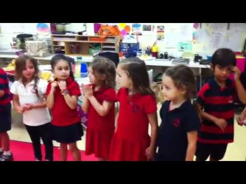 Class JK4 2012 Miami Country Day School performs The Rockstar Song