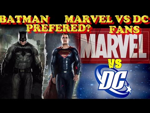 DC prefers Batman over Superman and Marvel vs DC fans