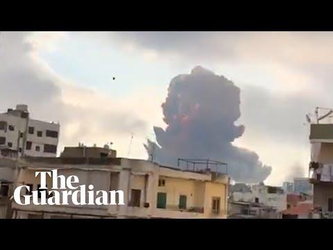 Beirut explosion: footage shows massive blast shaking Lebanon's capital