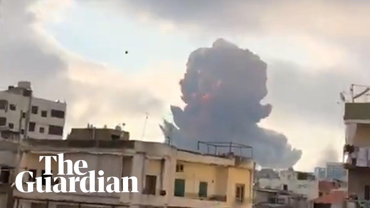 Massive Explosion Near Port Rocks Beirut