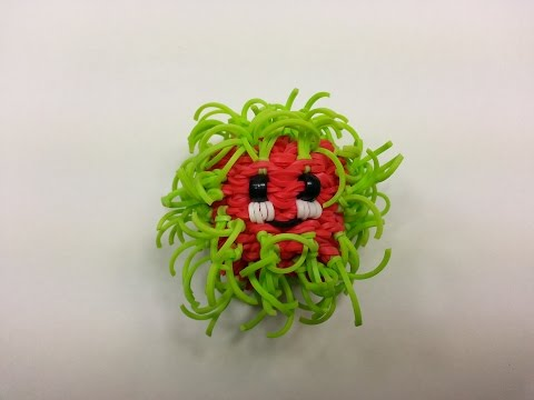 3-D Happy Rambutan Tutorial by feelinspiffy (Rainbow Loom)