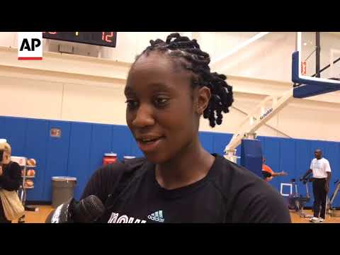 Liberty Star Tina Charles Meets Man Saved By Defibrillator Donated By Her Foundation