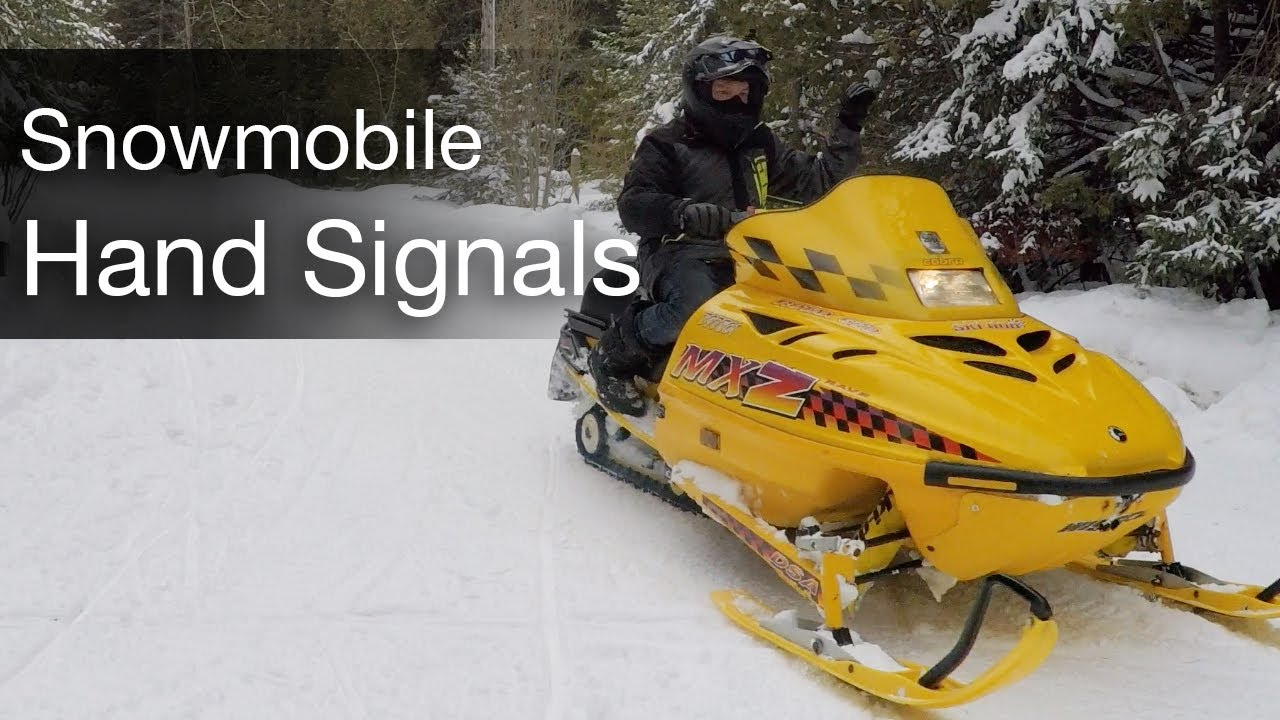 Snowmobile Hand Signals