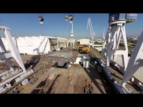Navantia coloca en grada la quilla del flotel que entregará a Pemex en 2016
