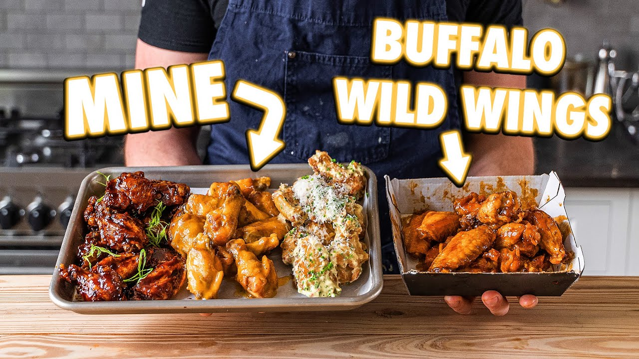Making Buffalo Wild Wings And Sauces At Home | But Better