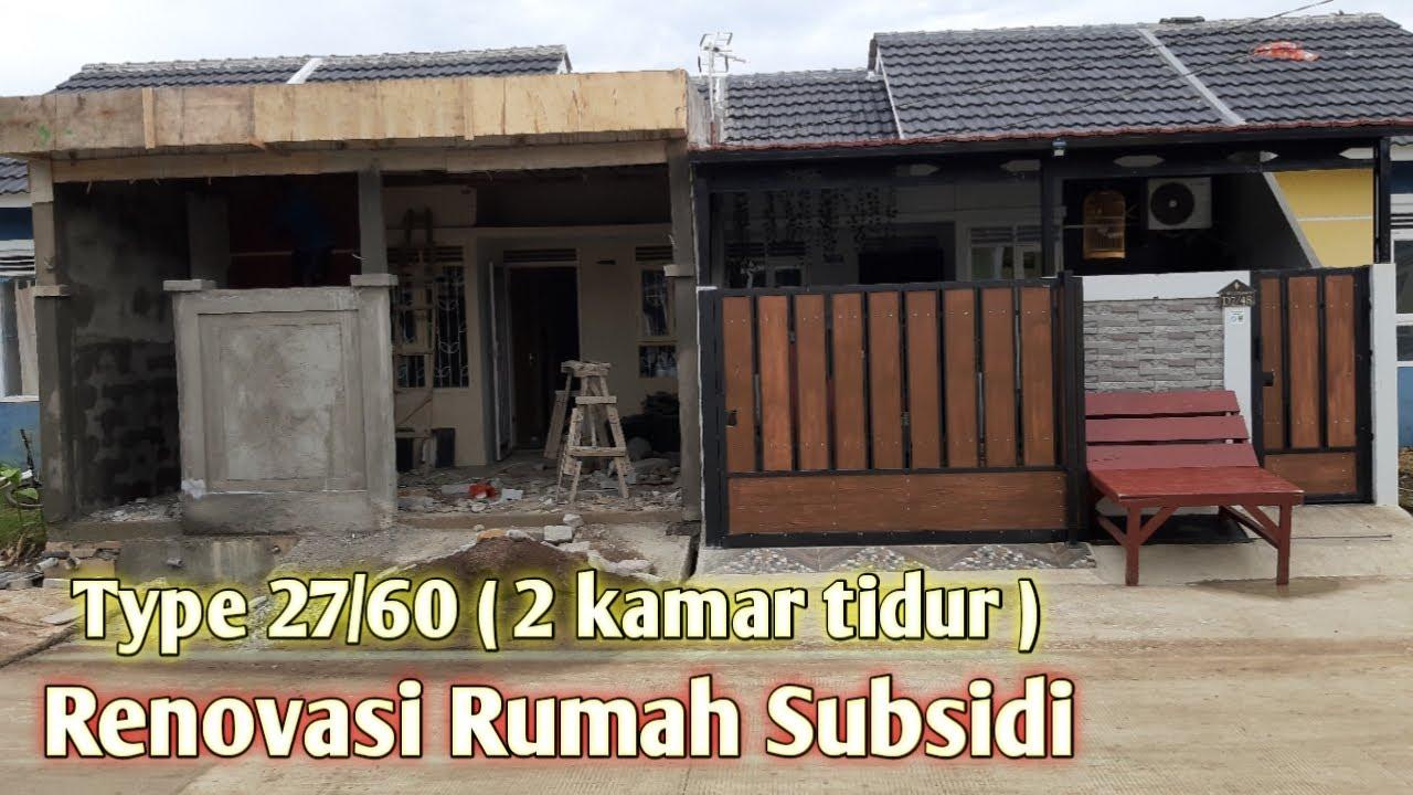 Renovasi Type 29 60 Rumah Subsidi Murah 2 Kamar Tidur Youtube
