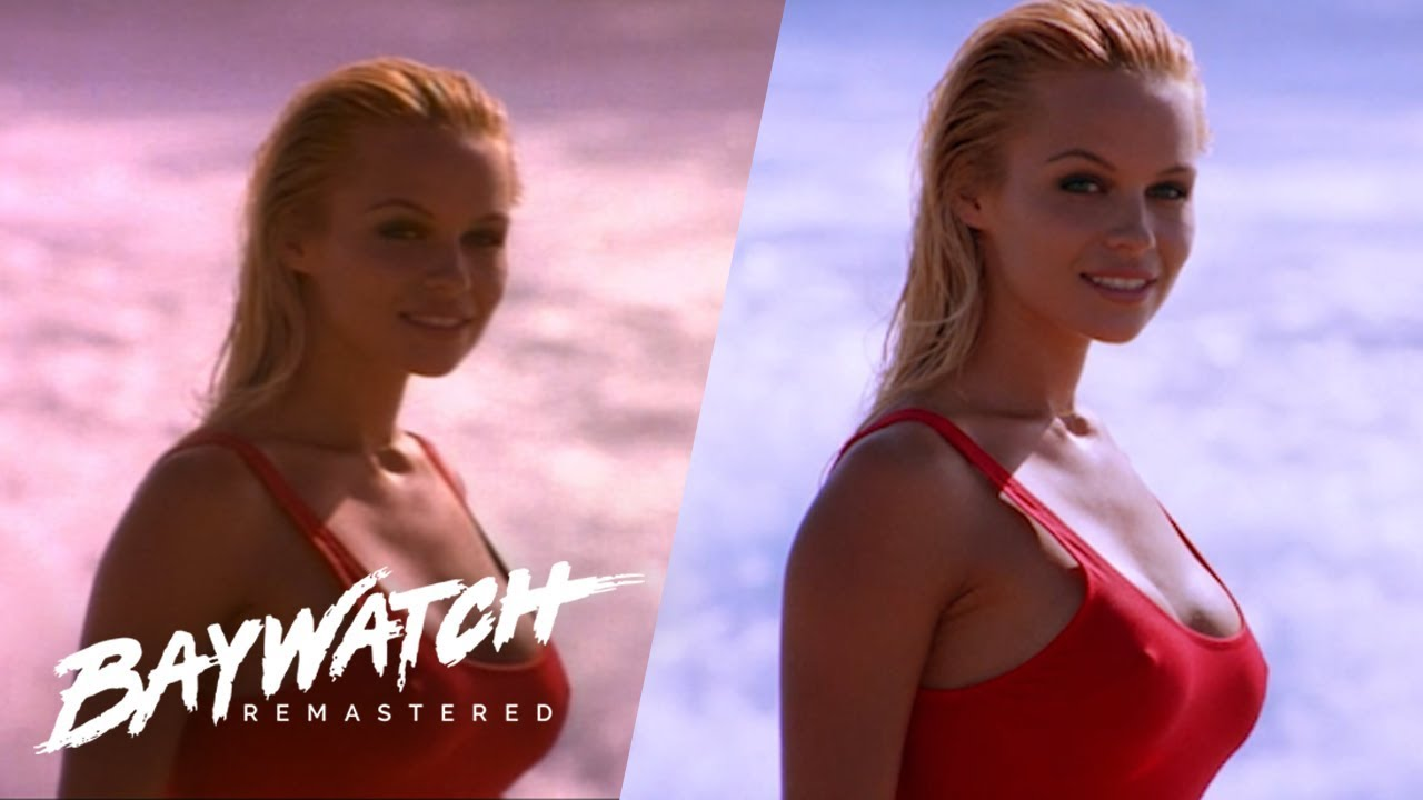 Baywatch Remastered Opening Credits SD to HD Comparison