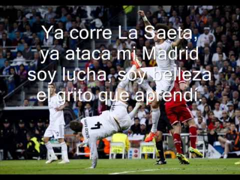 Hala Madrid y Nada Mas - Lyrics