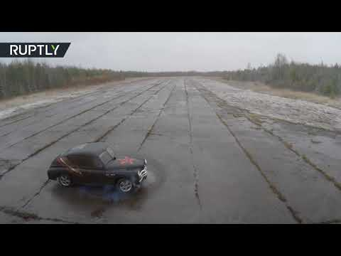 Wild Victory: Russian inventor transforms 1956 'Pobeda' into racing car