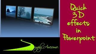 PowerPoint fait Facile de Faire des Effets 3D en quelques Minutes