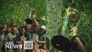Aussie Cricket team celebrates World Cup win