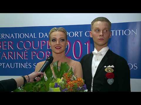 Winners of WDSF International Open  Adult Standart   Evaldas Sodeika -Ieva Zukauskaite,  LTU